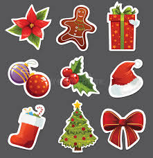 christmas stickers christmas stickers stock vector illustration of ribbon 27357348