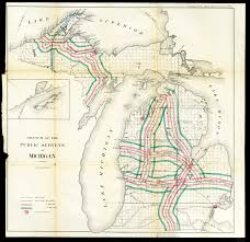sketch of the public surveys in michigan 1865 scanned maps map