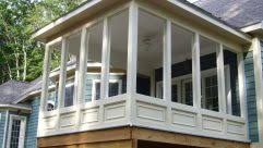 screening in porch screened cost screen kits small ideas front