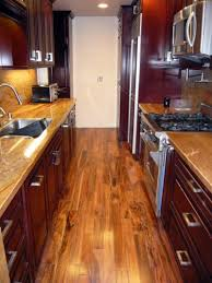 Dark Cherry Wood Kitchen Cabinets by Kitchen Cozy Kitchen Galley Decoration With Dark Cherry Wood