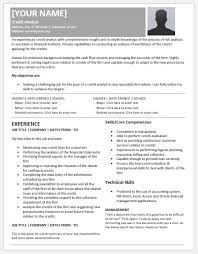 credit analyst resume templates for ms word resume templates