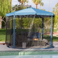 Gazebo On Patio by Axondirect Hdcpu51362584 Navy Blue 11 Ft Offset Steel Patio