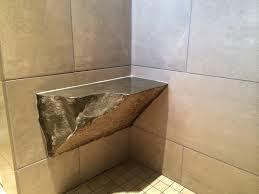 interior accessories granite wall with corner stone shower bench