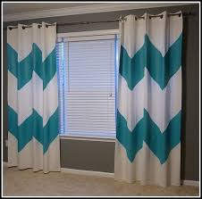 Blue And White Window Curtains Interesting Teal And White Curtains And Voile Curtain Panels Teal