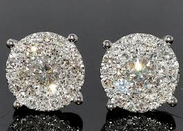 what size diamond earrings should i buy diamonds b awesome big diamond earrings 14k white