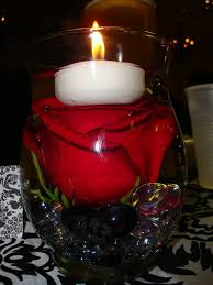 red rose centerpieces u0026 candles weddingbee photo gallery