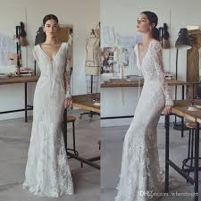sheath wedding dresses lihi hod 2017 vintage sheath wedding dresses lace v neck