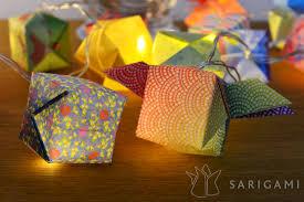 guirlande lumineuse papier japonais guirlandes lumineuses en origami sarigami