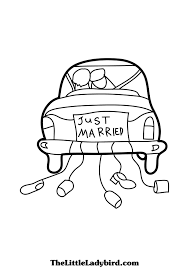 printable coloring pages for weddings