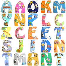 lettres décoratives chambre bébé plaque de porte prénom chambre enfant billes de clowns
