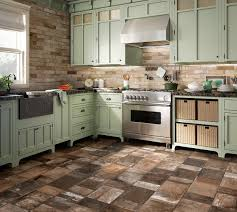 wooden floor in the kitchen country style