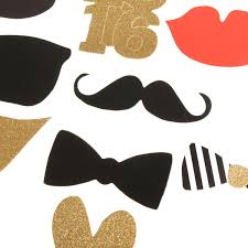 Mustache Home Decor 32pcs Diy Mask Gold Photo Booth Props Mustache Stick Wedding