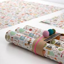 20 louise bakery wrapping paper five sheets by paper