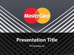 free mastercard with logo ppt template