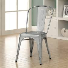 dining room chic monarch galvanized metal cafe chair crafted of