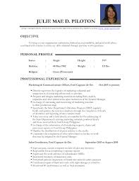 resume sle for job application in philippines time resume sle philippines format 28 images part time resume for