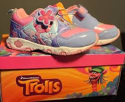 trolls light up shoes dreamworks girls trolls pink purple light up athletic shoe