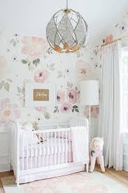 pink nursery ideas wall decor wall decor ideas for baby girl nursery floral cute pink