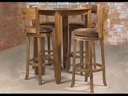 round bar table and stools round bar table youtube