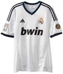 amazon com real madrid home authentic soccer jersey sports fan