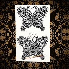 henna lace butterfly waterproof temporary henna tattoo