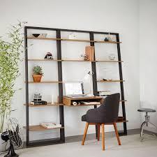 Ladder Bookcase Plans by Ladder Shelf Desk Wide Bookshelf Set West Elm Uk