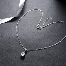 silver necklace with diamonds images Lekani925 sterling silver necklace heart shaped diamond necklace jpg