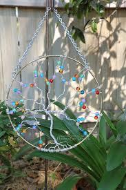 suncatcher tree life sun catcher rainbow glass large