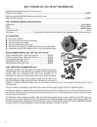 stroker set up kit information 106 u201d stroker engine