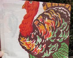 colorful turkeys etsy
