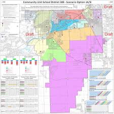 Illinois District Map by District 308 Releases Drafts Of Boundary Maps Oswego Il Patch