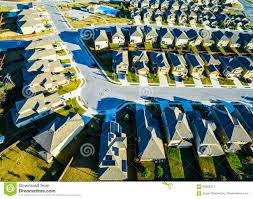 solar panels bird u0027s eye view suburbia modern homes vast texas hill