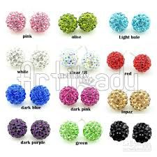 post style earrings 2017 post stud earrings new style clay cz 10mm