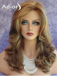 bimbo hairpieces dolce synthetic wig traditional cap wavy layers chin length