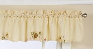 Sunflower Valance Curtains Sunflower Embroidered Tier Curtain By Lorraine Paul S Home Fashions