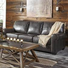 Gray Leather Sofa Canterelli Gray Leather Sofa Weekends Only Furniture And