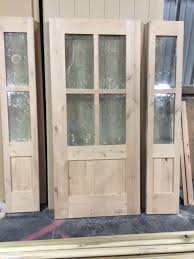 Shaker Style Exterior Doors Vail Style Knotty Alder 4 Lite Craftsman Entry Door Unit With