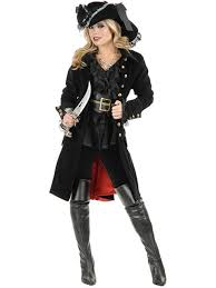 pirate vixen coat black costume pirate womens costumes