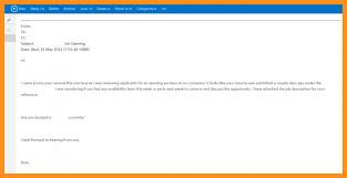 Subject For Sending Resume On Email 11 Format Of Sending Resume Appication Letter