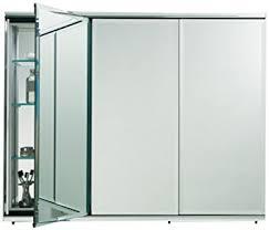 3 mirror medicine cabinet amazon com robern cb tfc3638 c series 3 door medicine cabinet home