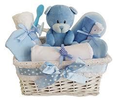 Baby Gift Baskets Angel White Wicker Blue Baby Gift Basket Baby Hamper Baby