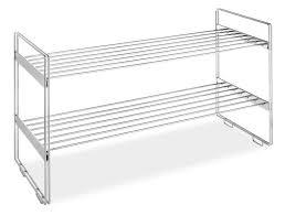 Chrome Bathroom Shelves by Whitmor Stackable Closet Shelves 2 Tier Chrome Shelves Review