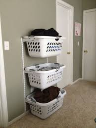 Laundry Room Basket Storage I Was Totally Thinking About Doing Something Like This But Wasn T