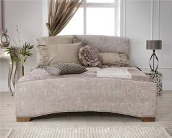 Ashley King Size Bed Queen Upholstered Bed With Tall Headboard With Faux Crystal With