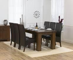 Oak Dining Room Table And 6 Chairs Impressive Brown Dining Room Chairs Eizw Info