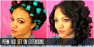 ththermal rods hairstyle perm rod set on extensions love struck extensions youtube