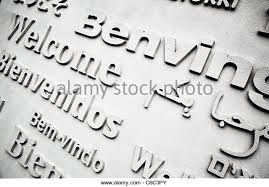 welcome greetings different languages stock photos welcome