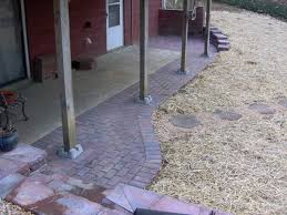 Concrete Patio With Pavers Could Someone Answer This Paver Concrete Question