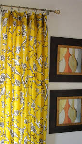 delectable yellow window curtain ideas with sweet gray floral
