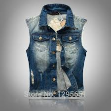 vintage classic casual light jacket 2015 new men vest classic vintage jeans vest tops sleeveless jeans
